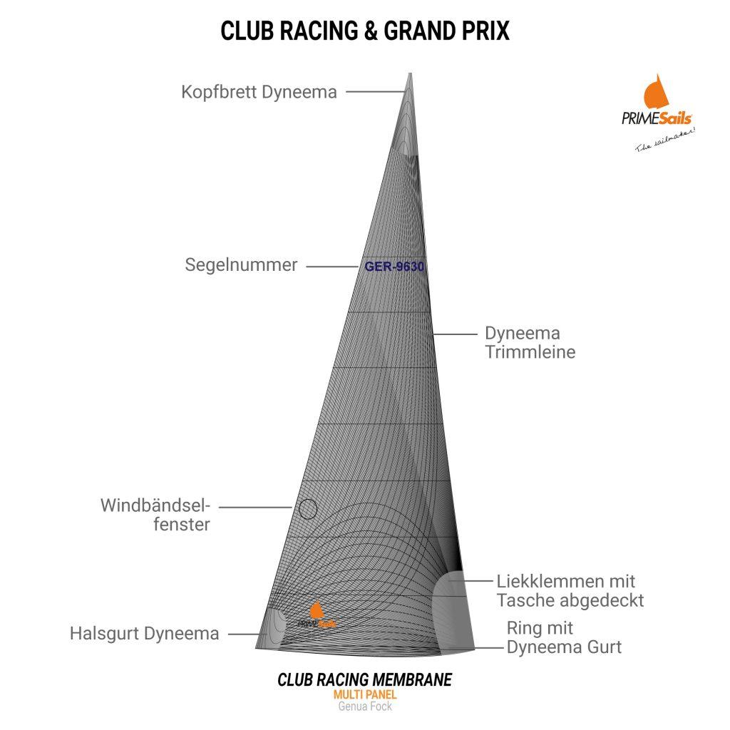 Club Racing Grand Prix Multi Panal Genua Fock